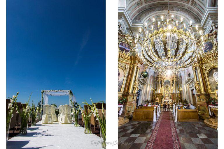ceremonia pod golym niebem lub w barokowym kosciele SA 0017