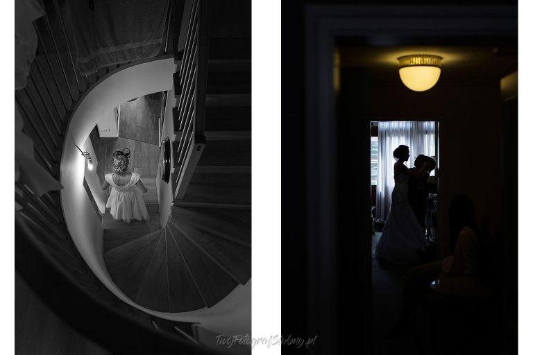 pani mloda na schodach i sylwetkowo przy oknie KR 0193