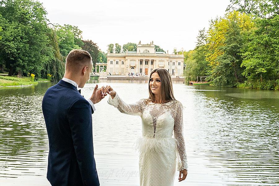 Sesja ślubna w Łazienkach Królewskich